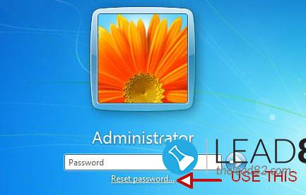Windows 7のパスワードを忘れた場合のリセットディスク