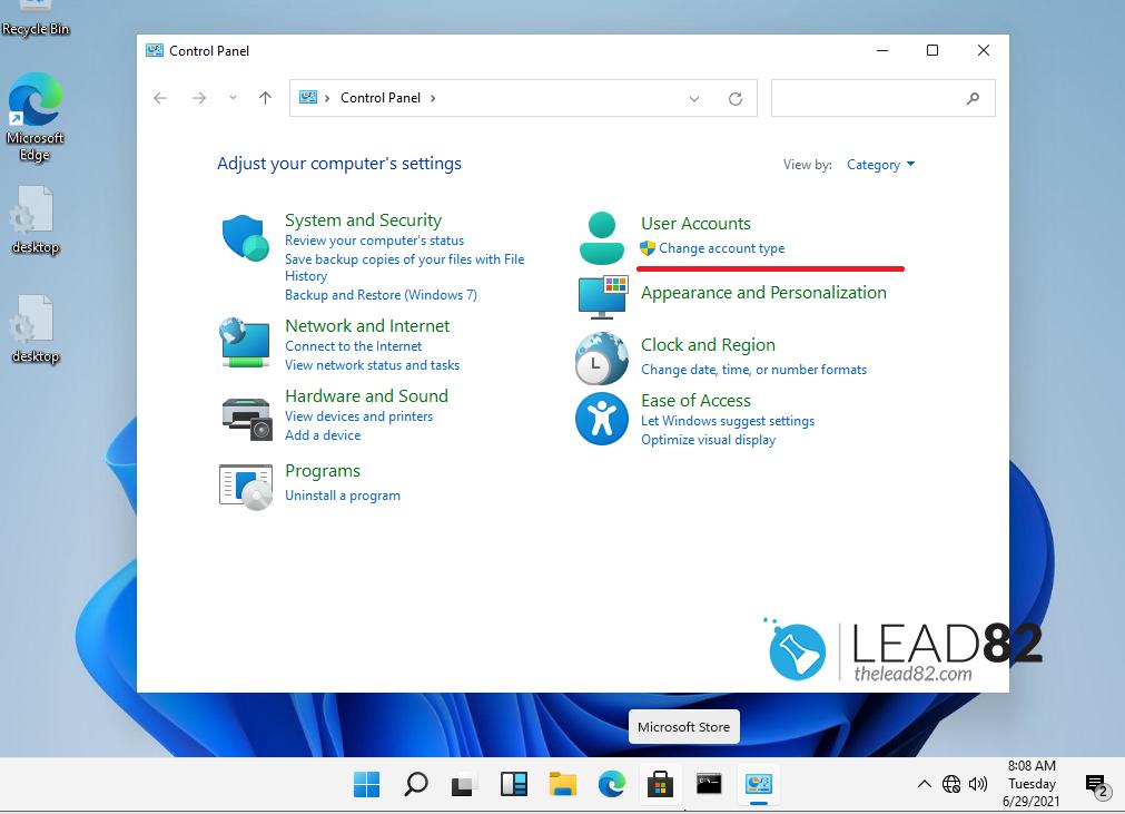 cambiar el tipo de cuenta en windows 11