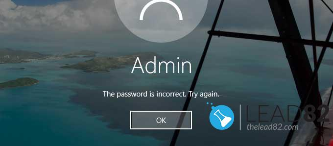 Lost windows 10 password - password is incorrect. Try again
