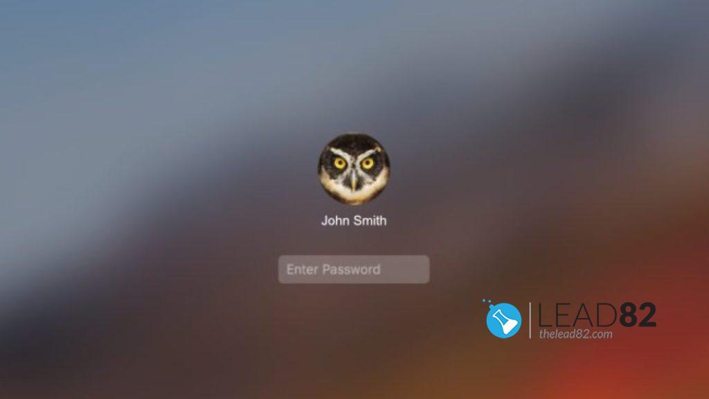 macbook登录屏幕输入密码
