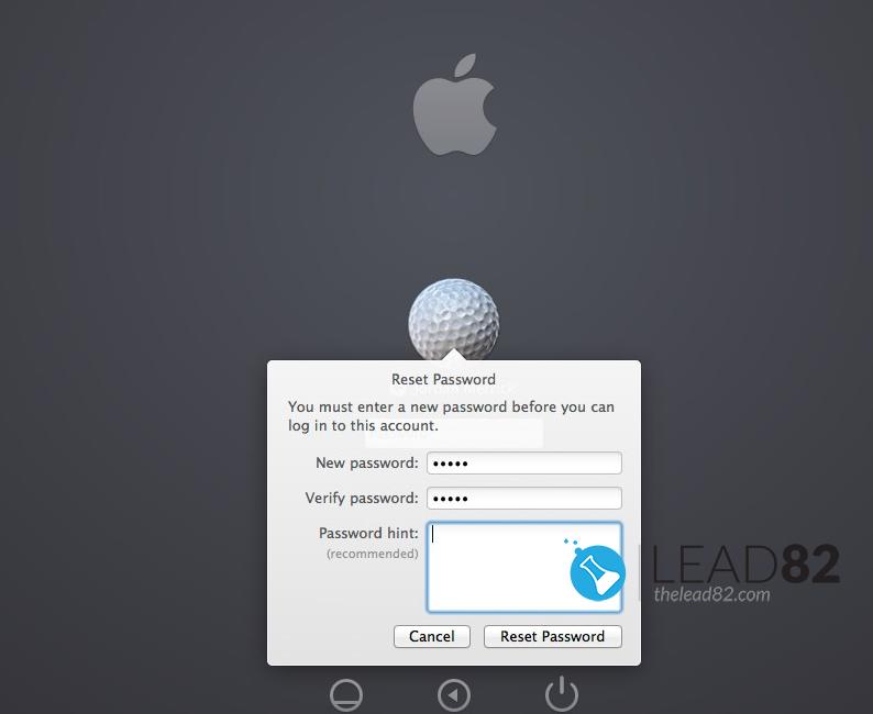 用苹果ID重置密码的Macbook