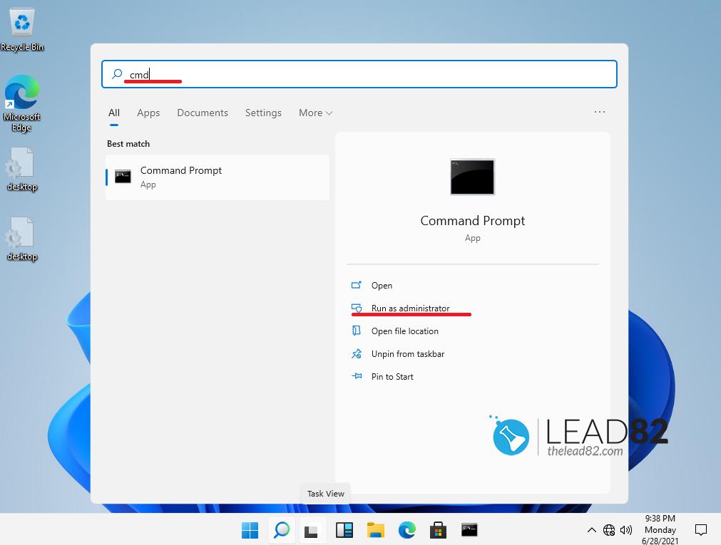cómo ejecutar el símbolo del sistema en windows 11