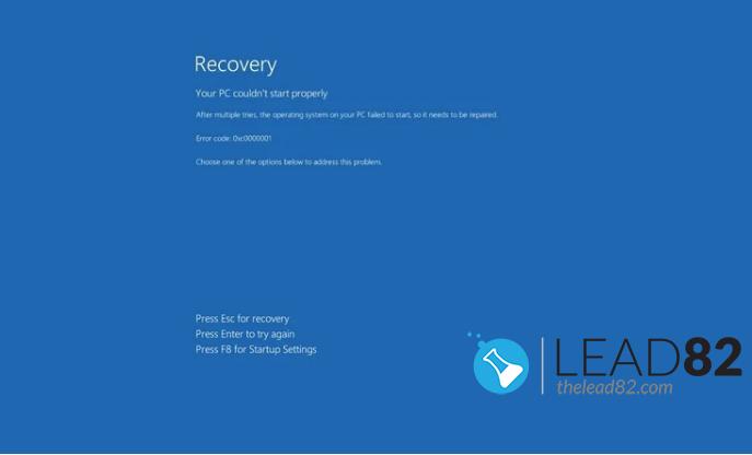 Windows 10 reparación automática (recuperación) pantalla de arranque