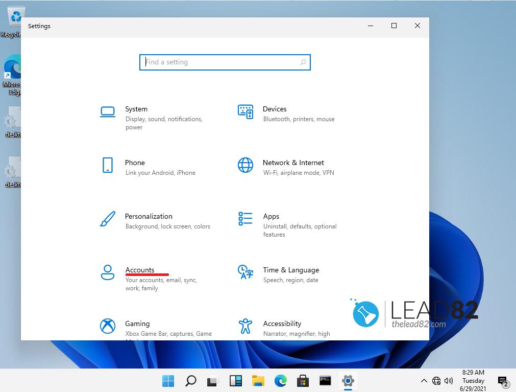 Windows 11 ajustes