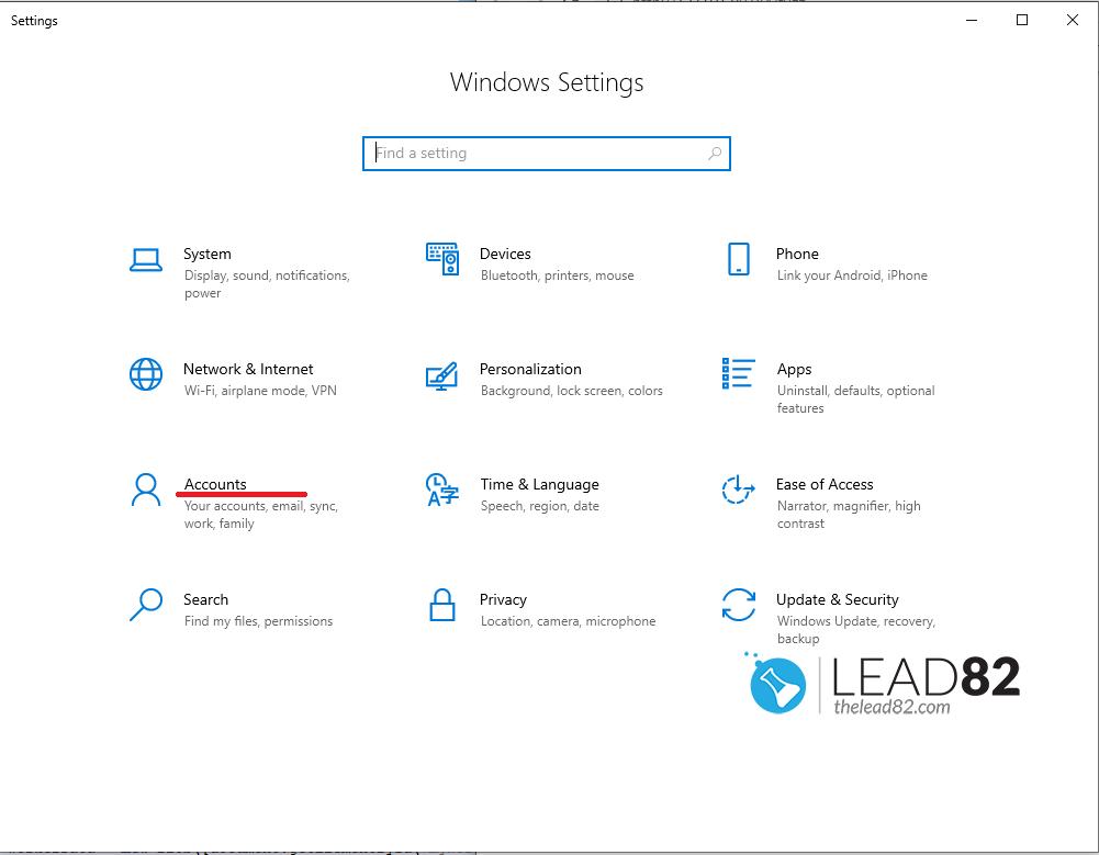 Windows 10设置挑选账户